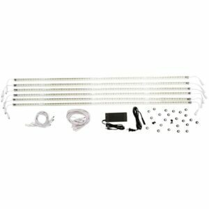 LED Magnetic Shelf Light Kit 4ft (6pcs), LMLBS – 16W