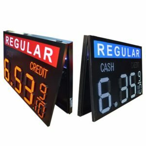LED Gas Price Sign 18-24in, CACR – 90-150W